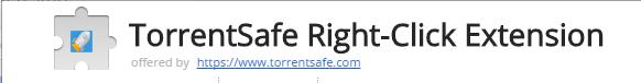 TorrentSafe for Chrome, clic droit pour ajouter des torrents